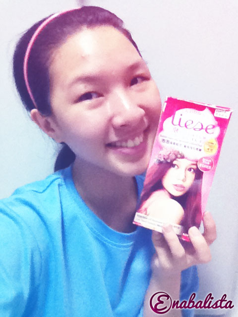 Liese New Jewel Pink Hair Dye Review Ena Teo Enabalista