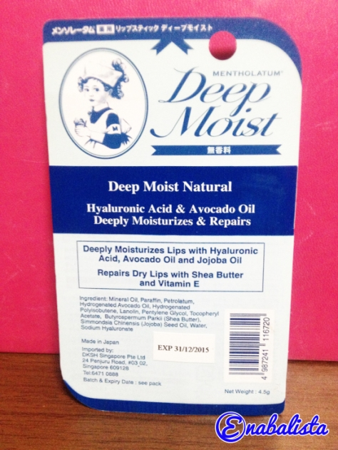 Enabalista Mentholatum Deep Moist Lipbalm 2013 Review4