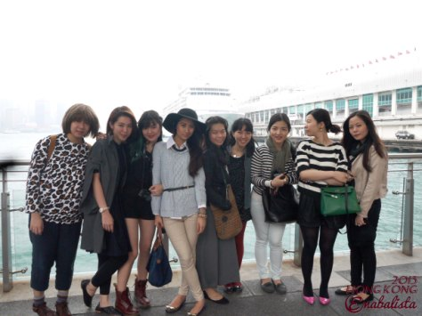 Posing together after our ferry ride~