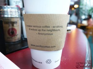 Cafe cup holders with cute quotes