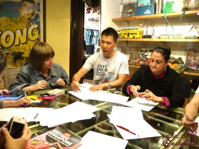 During our brain-storming session, for Douglas' G.O.D products for Singapore.