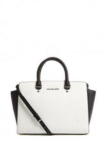 Selma Large TZ Monochrome Satchel by Michael by Michael Kors