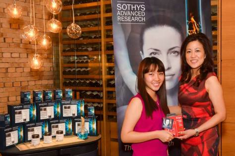 Sothys Lifeline Energizing Line Event Blogger Ena Teo of Enabalista with Ms Cheryl Lee GM of Sothys Singapore & Malaysia