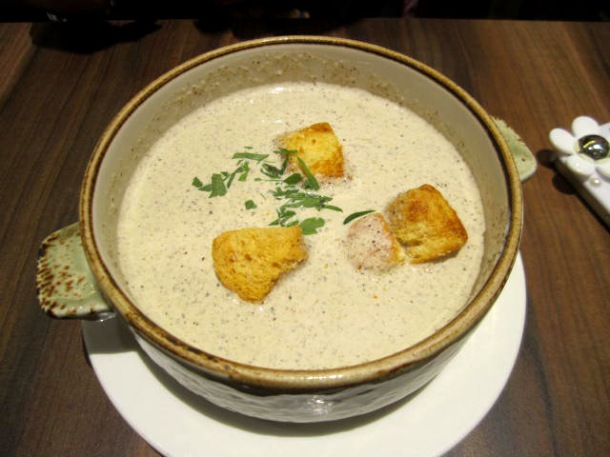Poulet Restaurant Review Mushroom Soup Enabalista
