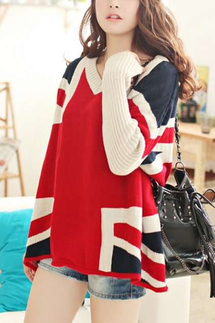Union-Jack-Style-Loose-Sweater