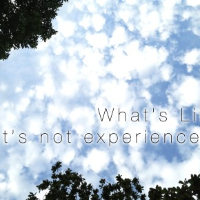 Reflections for 2013 | What's life, if it's notexperienced?