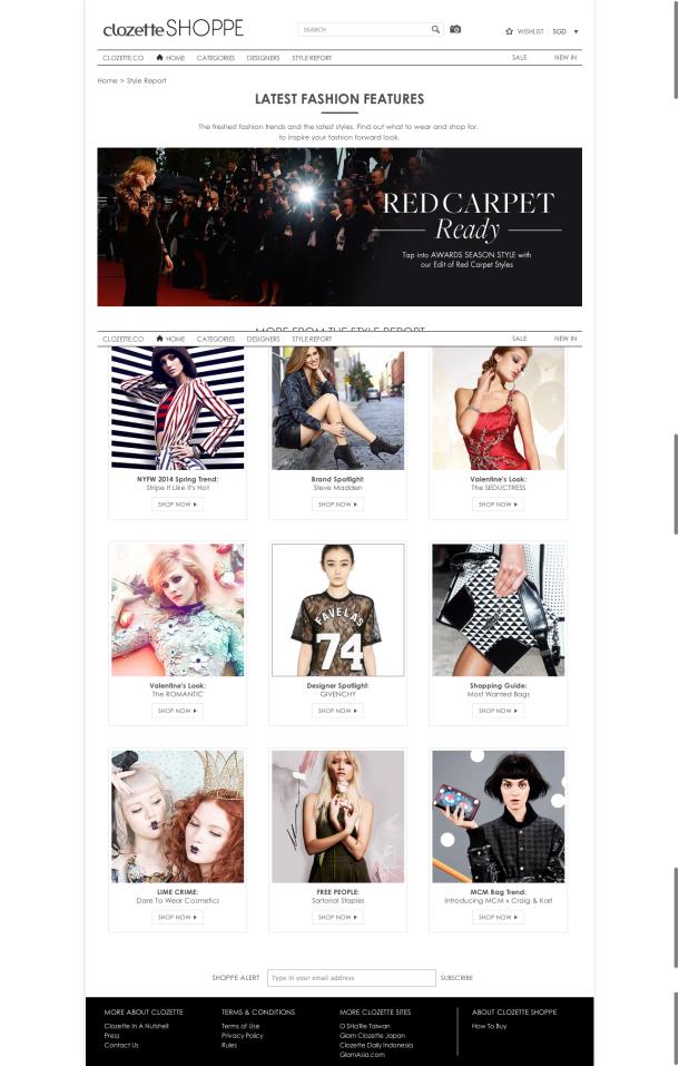 The Style Report    Clozette Shoppe