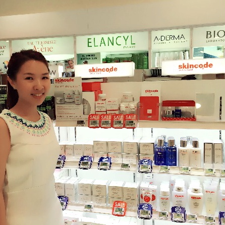 Skincode at Guardian Takashimaya