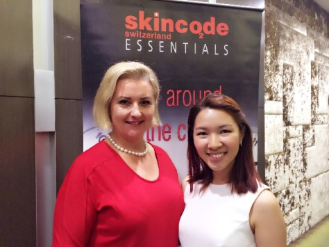 Skincode Singapore Blogger Event with Trainer