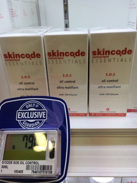 Skincode Singapore Guardian SOS Oil Ultra Matt