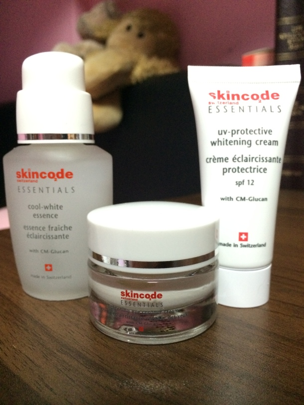 Skincode Singapore Guardian Whitening & Brightening Kit Hero Products