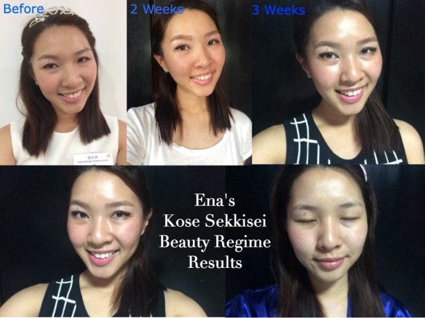 Ena's Kose Sekkeisei Beauty Regime Results
